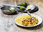 Paneer korma with rice