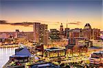 Baltimore, Maryland, USA downtown skyline.