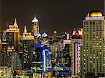 View of Skylines in Bangkok at night, Thailand