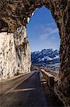 Pocol, Cortina d'Ampezzo, Dolomiti, Dolomites, Veneto, Italy. Pocol's tunnel