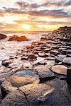 Giant's Causeway, County Antrim,  Ulster region, northern Ireland, United Kingdom. Iconic basalt columns.