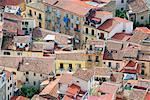Top view of Cefalu, Cefalu, Sicily, Italy, Europe.