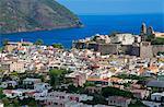Lipari Town, Lipari Island, Aeolian Islands, UNESCO World Heritage Site, Sicily, Italy, Mediterranean, Europe