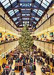 UK, Scotland, Lothian, Edinburgh, Christmas Decorations in the Jenners Department Store.