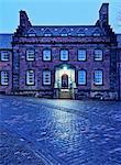 UK, Scotland, Lothian, Edinburgh, Edinburgh Castle, Twilight view of The Governor's House.