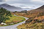 Scotland, Glen Cannich. The winding road through the Glen.