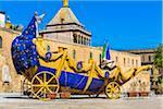 Festino Cart with Statue of Santa Rosalia by Palazzo dei Normanni in Palermo, Sicily, Italy