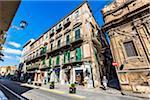 Street Scene of Via Vittorio Emanuele in Palermo, Sicily, Italy