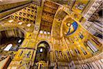 Interior of Cattedrale di Monreale in Monreale, Palermo, Sicily, Italy