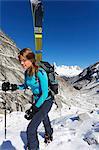 Europe, France, Haute Savoie, Rhone Alps, Chamonix, Vallee Blanche off piste