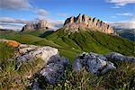 Rocks and Acheshboki (Devil's Gates) mountains,  Bolshoy Thach (Big Thach) Nature Park, Caucasian Mountains, Republic of Adygea, Russia
