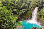 Parque National Tenorio, Catarata del Rio Celeste, wild waterfall in the rainforest