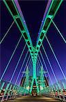 Europe, United Kingdom, England, Lancashire, Manchester, Salford Quays, Millenium Lift Bridge