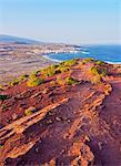Spain, Canary Islands, Tenerife, El Medano, View towards the town from Montana Roja.