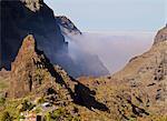 Spain, Canary Islands, Tenerife, Masca, View towards Barranco de Masca.