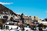 Europe, Switzerland, Graubunden, Engadine, St Moritz in winter