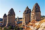 Turkey, Central Anatolia, Cappadocia, balloon flight over Goreme, Unesco World Heritage site