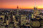 Midtown Manhattan skyline at dusk, New York, USA