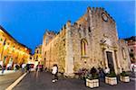 Duomo di Taormina at Dusk, Taormina, Sicily, Italy