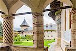 Sucevita Monastery, a Gothic church, one of the Painted Churches of Northern Moldavia, UNESCO World Heritage Site, Bukovina, Romania, Europe