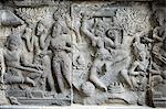 Hindu carvings on the Prambanan temples, UNESCO World Heritage Site, near Yogyakarta, Java, Indonesia, Southeast Asia, Asia
