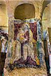 Fresco in Chiesa di Santa Lucia alle Malve, Matera, Basilicata, Italy