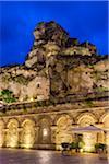Church of Santa Maria di Idris at Dusk, Matera, Basilicata, Italy