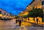 Cobblestone Street at Dusk in Matera, Basilicata, Italy