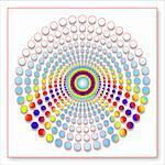 Circle Dots Creative Abstract Design