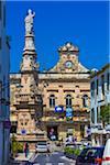 Colonna di Sant'Oronzo and Town Hall in Ostuni Square, Ostuni, Puglia, Italy
