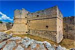 The imposing fortification of the Otranto Castle in Otranto in Puglia, Italy