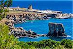 Tranquil coastal view of Santa Cesarea Terme in Puglia, Italy