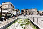 Part of Ancient Via Appia and Via Traiana in Piazza del Ferrarese, Bari, Puglia, Italy