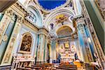 Interior of Chiesa di Santa Maria del Carmine, Bari, Puglia, Italy