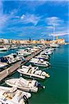 Boats in Trani Harbour, Trani, Puglia, Italy