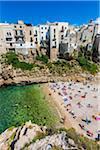 People at Beach in Polignano a Mare, Puglia, Italy