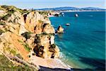 Oerview of Praia do Camilo, Lagos, Algarve, Portugal