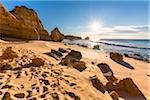 Rock Formations at Praia de Sao Rafael, Albufeira, Algarve, Portugal