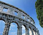 First century Roman amphitheatre, Pula, Istria, Croatia, Europe