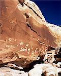Petroglyphs, Arches National Park, Moab, Utah, United States of America (U.S.A.), North America