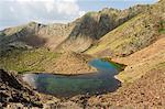 Mountain lake, hiking area of Pic de Coma Pedrosa, Parish of La Massana, Andorra, Pyrenees, Europe