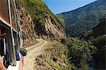 Passengers on bus journey into Mountains of Kalinga, The Cordillera Mountains, Mountain Province, Luzon, Philippines, Southeast Asia, Asia