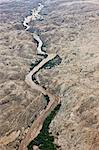 Aerial photo of the Omaruru River, Namibia, Africa