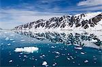 Fugle fjord, Spitsbergen Island, Arctic, Norway, Scandinavia, Europe