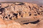 Tourists horse trekking, Valle de la Luna (Valley of the Moon), Atacama Desert, Norte Grande, Chile, South America