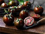 Fresh organic fruit, green tiger tomatoes