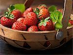 Fresh organic fruit, jubilee strawberries