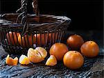 Fresh organic fruit, tiny tangerines