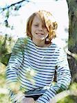 Portrait of boy in park