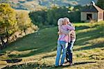 Senior couple sharing a hug.